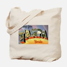 Tampa Florida Greetings Tote Bag
