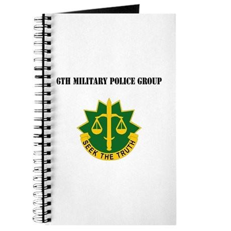 DUI - 6th Military Police Group with Text Journal