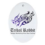 Tribal rabbit Ornament (Oval)
