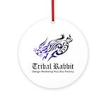 Tribal rabbit Ornament (Round)