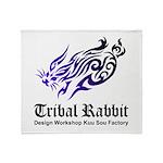 Tribal rabbit Throw Blanket