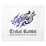 Tribal rabbit King Duvet