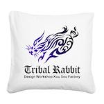 Tribal rabbit Square Canvas Pillow