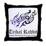 Tribal rabbit Throw Pillow