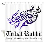 Tribal rabbit Shower Curtain