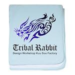 Tribal rabbit baby blanket