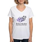 Tribal rabbit Women's V-Neck T-Shirt