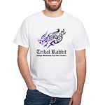 Tribal rabbit White T-Shirt