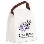 Tribal rabbit Canvas Lunch Bag