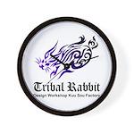 Tribal rabbit Wall Clock