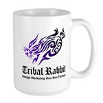 Tribal rabbit Large Mug