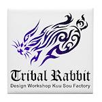 Tribal rabbit Tile Coaster