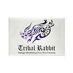 Tribal rabbit Rectangle Magnet (10 pack)
