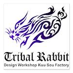 Tribal rabbit Square Car Magnet 3