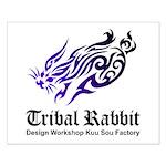 Tribal rabbit Small Poster