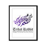Tribal rabbit Framed Panel Print