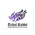 Tribal rabbit Postcards (Package of 8)