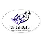 Tribal rabbit Sticker (Oval)