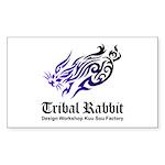 Tribal rabbit Sticker (Rectangle 50 pk)