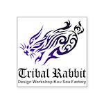 Tribal rabbit Square Sticker 3