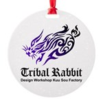 Tribal rabbit Round Ornament