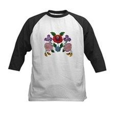 Kalocsai hand embroidery floral pattern Tee