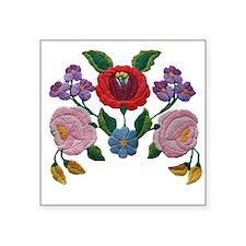 Kalocsai hand embroidery floral pattern Square Sti