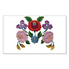 Kalocsai hand embroidery floral pattern Decal