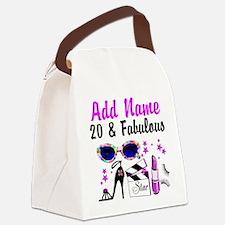 HAPPY 20TH BIRTHDAY Canvas Lunch Bag