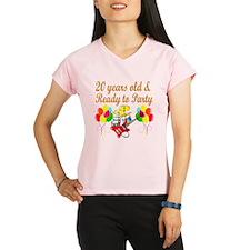 HAPPY 20TH BIRTHDAY Performance Dry T-Shirt
