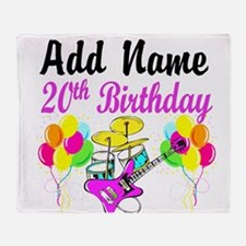 HAPPY 20TH BIRTHDAY Throw Blanket