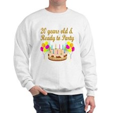 HAPPY 20TH BIRTHDAY Sweatshirt