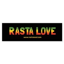 One Love Rasta Bumper Sticker