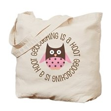 Funny Geocaching Owl Tote Bag