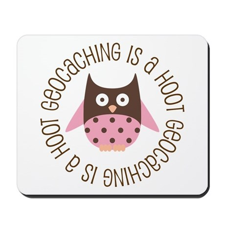 Funny Geocaching Owl Mousepad