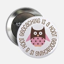 "Funny Geocaching Owl 2.25"" Button"