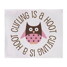 Curling Is A Hoot Throw Blanket