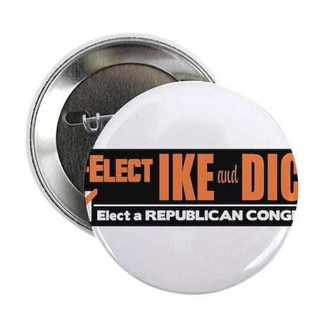 """1956 Eisenhower Nixon Vintage Bumper Sticker 2.25"""""""