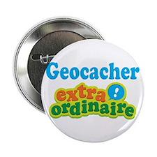 """Geocacher Extraordinaire 2.25"""" Button"""