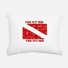 YOUR TEXT FADED DIVE FLAG Rectangular Canvas Pillo