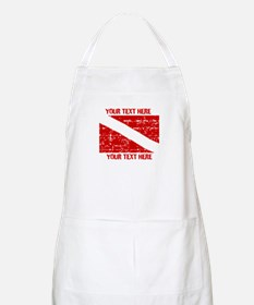 YOUR TEXT FADED DIVE FLAG Apron