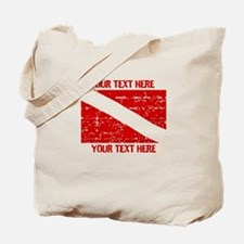 YOUR TEXT FADED DIVE FLAG Tote Bag