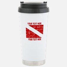 YOUR TEXT FADED DIVE FLAG Travel Mug