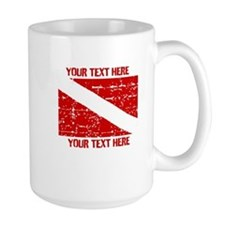 YOUR TEXT FADED DIVE FLAG Mug