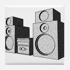 The Great Stereo System Tile Coaster