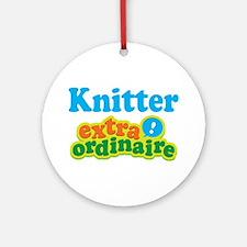Knitter Extraordinaire Ornament (Round)