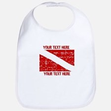 YOUR TEXT FADED DIVE FLAG Bib
