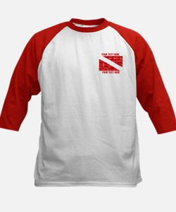 YOUR TEXT FADED DIVE FLAG Tee