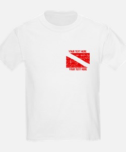 YOUR TEXT FADED DIVE FLAG T-Shirt