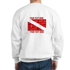 YOUR TEXT FADED DIVE FLAG Sweatshirt